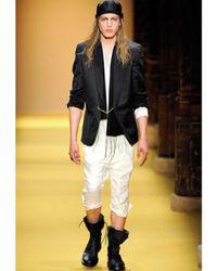 Ann Demeulemeester | Black Calfskin Lace Up Sandals for Men | Lyst