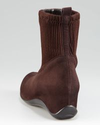 Aquatalia | Brown Internal-Wedge Bootie, Espresso | Lyst