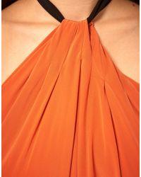 ASOS Collection | Orange Asos Maxi Dress with Halter Neck Tie | Lyst
