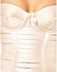 Bordelle - Natural Angela Strap Dress With Structured Cups - Lyst