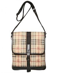 Burberry - Natural Highgate Classic Check Bag for Men - Lyst