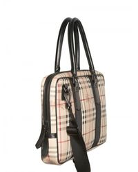 Burberry - Natural Newburg Classic Check Bag for Men - Lyst