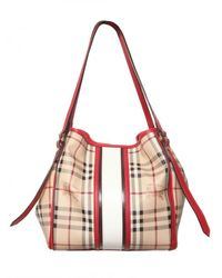 Burberry - Natural Small Canterbury Check Shoulder Bag - Lyst