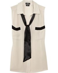 By Malene Birger | Natural Laurensa Necktie Crepe Blouse | Lyst