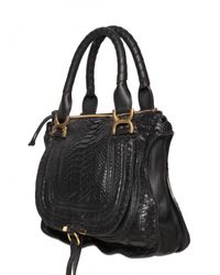 Chloé | Black Medium Python Marcie Top Handle | Lyst