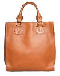 Chloé | Brown Aurora Grained Vegetal Calfskin Tote | Lyst