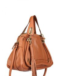Chloé | Brown Paraty Calfskin with Nappa Top Handle | Lyst