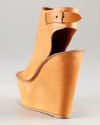 Chloé - Brown Open-toe Cuffed Wedge - Lyst