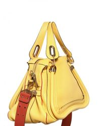 Chloé - Yellow Paraty Military Strap Top Handle - Lyst