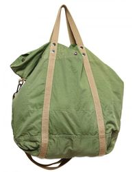 Closed - Green Twill Cotton Slouchy Shoulder Bag for Men - Lyst