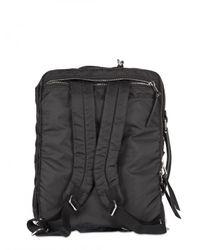 Dolce & Gabbana | Black Nylon and Leather Backpack Bag for Men | Lyst