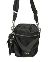 Dolce & Gabbana | Black Nylon Small Shoulder Bag for Men | Lyst