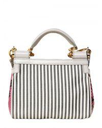 Dolce & Gabbana - Multicolor Mini Miss Sicily Top Handle - Lyst