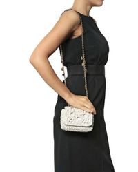 Dolce & Gabbana - White Mini Miss Charles Raffia Shoulder Bag - Lyst