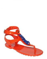 DSquared² | Orange Rubber Chain Flats | Lyst