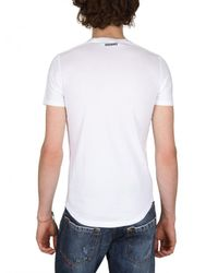 DSquared² | White Tiger Print Tshirt for Men | Lyst