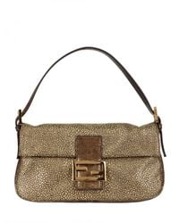 Fendi | Metallic Baguette Shoulder Bag | Lyst