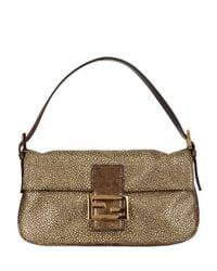 Fendi | Brown Baguette Shoulder Bag | Lyst