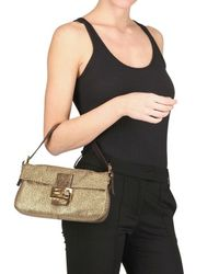 Fendi | Brown Baguette Shoulder Bag | Lyst