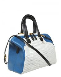 Fendi | White Chameleon Perforated Leather Bag | Lyst