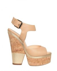 Giuseppe Zanotti | Natural 160mm Leather Ankle Strap Sandals | Lyst