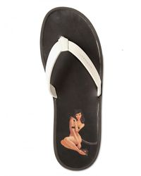Givenchy - White Pin-up Print Flip Flop Sandals for Men - Lyst