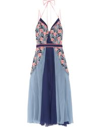 Jason Wu | Blue Floral-print Silk-chiffon Dress | Lyst