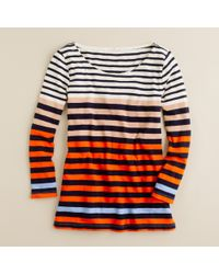 J.Crew | Red Colorblocked Stripe Long-sleeve Tee | Lyst