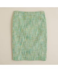 J.Crew | Green No. 2 Pencil Skirt in Basket-weave Tweed | Lyst