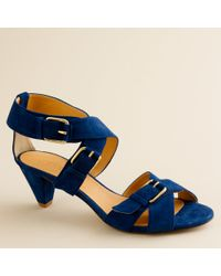 J.Crew | Blue Lucca Suede Sandals | Lyst