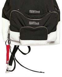 Kris Van Assche - Black Painted Calfskin and Canvas Backpack for Men - Lyst