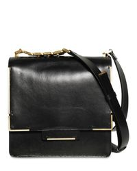 Lanvin - Black Medium Flap Glossy Shoulder Bag - Lyst
