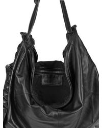 Natalia Brilli - Black Studded Strap Leather Shoulder Bag - Lyst