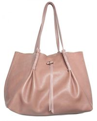 Nina Ricci | Natural Grainy Calfskin Shopper Shoulder Bag | Lyst
