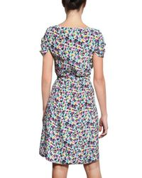 Nina Ricci - Multicolor Crepe De Chine Floral Dress - Lyst