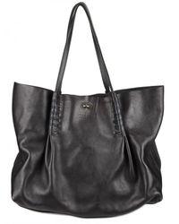 Nina Ricci | Blue Grainy Calfskin Shopper Shoulder Bag | Lyst