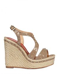 Paloma Barceló - Natural 120mm Patent & Studs Wedges - Lyst