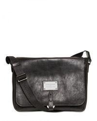 Balmain | Black Leather Messenger Bag for Men | Lyst