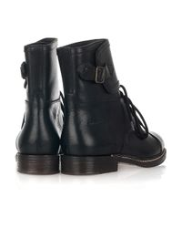 See By Chloé - Black Derby Lace-up Leather Boots - Lyst