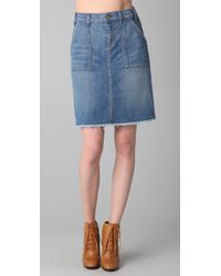 Textile Elizabeth and James | Blue Carly Denim Skirt | Lyst