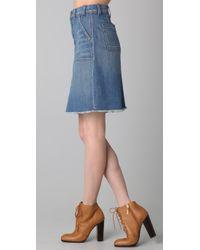 Textile Elizabeth and James - Blue Carly Denim Skirt - Lyst