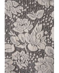 TOPSHOP - Multicolor Texture Flower Skater Dress - Lyst