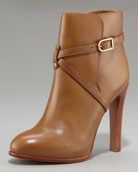 Tory Burch | Brown Strapped Ankle Boot | Lyst