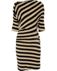 Vivienne Westwood Anglomania | Black Arianna Striped Stretch-linen Dress | Lyst