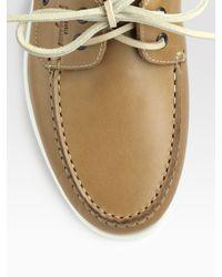 Ferragamo - Natural World Boat Shoes for Men - Lyst