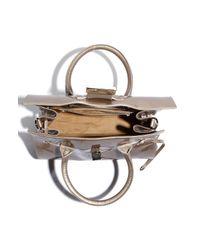 Jimmy Choo   Khaki Rosalie Patent Leather Satchel   Lyst