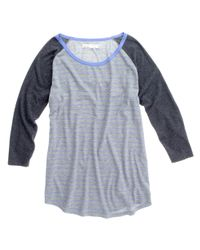 Madewell - Gray Striped Flyball Tee - Lyst