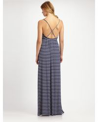 Rachel Pally - Blue Blanca Striped Modal Low-back Maxi Dress - Lyst
