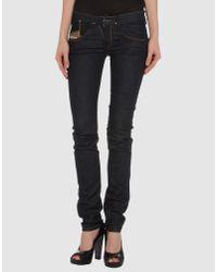 DIESEL   Black Slim-fit Trousers   Lyst