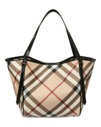 Burberry | Natural Small Canterbury Check Tote | Lyst